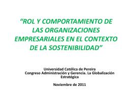 ROL Y COMPORTAMIENTO DE LAS ORGANIZACIONES …