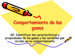 Comportamiento de las gases