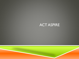 ACT Aspire - Grapevine Middle School