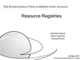 Resource Registries