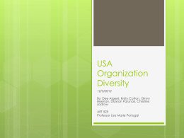 USA Organization Diversity - Adult Education and Training
