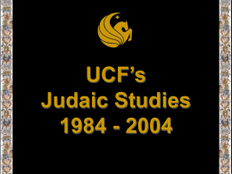 UCF's Judaic Studies 1984