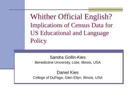 Whither Official English? Implications of Census Data for