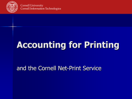 Net-Print at Cornell