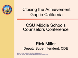 Closing the Achievement Gap - P