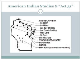 American Indian Studies & Act 31