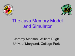 Revising the Java Thread/Memory Model