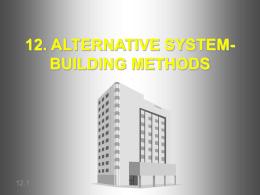 12. ALTERNATIVE SYSTEMS