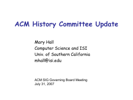 ACM History Committee