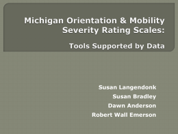 Michigan Orientation & Mobility Severity Rating Scales