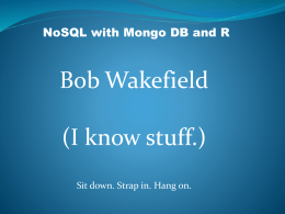 NoSQL and MongoDBx