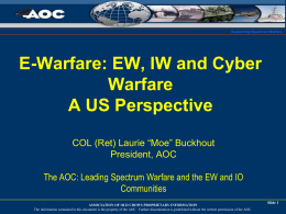 E-Warfare: EW, IW and Cyber Warfare
