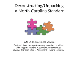 Deconstructing a North Carolina Algebra I Standard