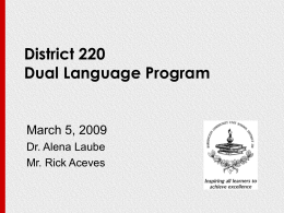 District 220 Dual Language Program