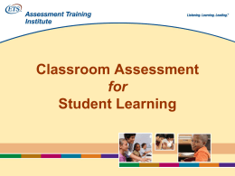 Classroom Assessment for Student Learning: