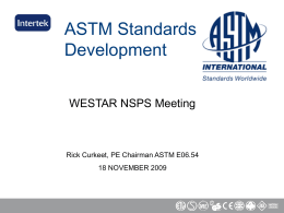 ASTM Standards Development
