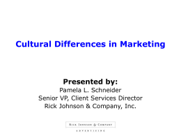 Cultural Differences in Marketing - SHSMD-NM
