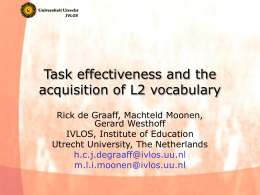 Task effects on the acquisition of L2 vocabulary