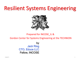 Resilient Systems - Technion