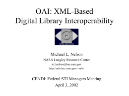 Introduction to Digital Libraries Week 1: What is a DL?