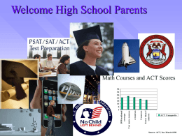 Welcome High School Parents