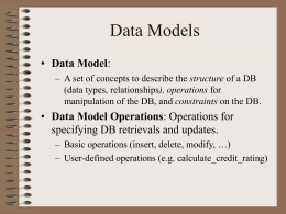 Database Systems Chapter 2 - Dr. Hong-Mei Chen