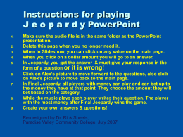 Jeopardy - Paradise Valley