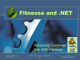 Fitnesse and .NET