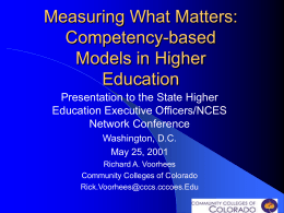 Measuring What Matters: Competency