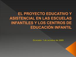 EL PROYECTO EDUCATIVO Y ASISTENCIAL EN LAS …