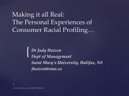 Making it all Real: Minorities' Experience of Consumer