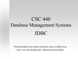 CSC 742: Database Management Systems