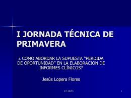 I JORNADAS DE PRIMAVERA