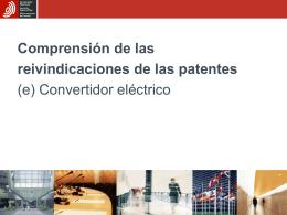 Comprender las reivindicaciones de patentes (e