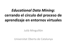 Educational Data Mining: XXX