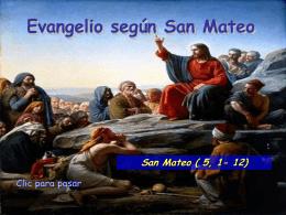 Evangelio San Mateo 5, 1-12