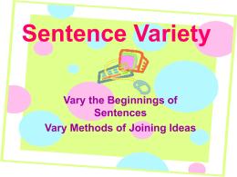 Sentence Variety - Philadelphia University
