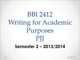 BBI 2409 English for Academic Purposes PJJ