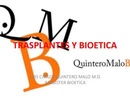 TRASPLANTES Y BIOETICA