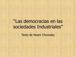 """Las democracias en las sociedades Industriales"""""""