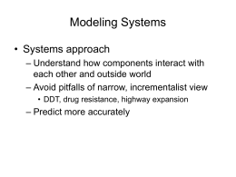 Modeling Complex Adaptive Systems
