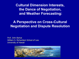 Cross PPT - University of Hawaii