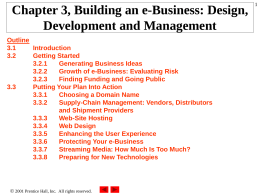 3.1 Introduction - Internet Entrepreneurship