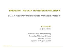 Presentation: PPT 450KB - UDT