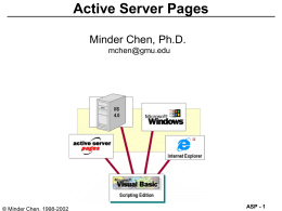 Active Server Pages - Web Posting Information