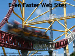 High Performance Web Sites 14 rules for faster