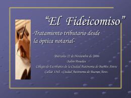 FIDEICOMISO