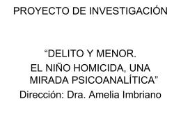 PSICOANALIIS Y CRIMINOLOGIA