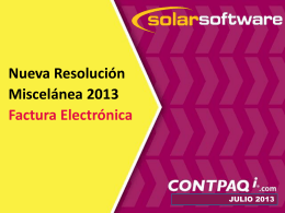 Diapositiva 1 - Solar Software