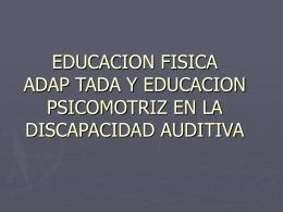 EDUCACION FISICA Y PSICOMOTRIZ EN LA …